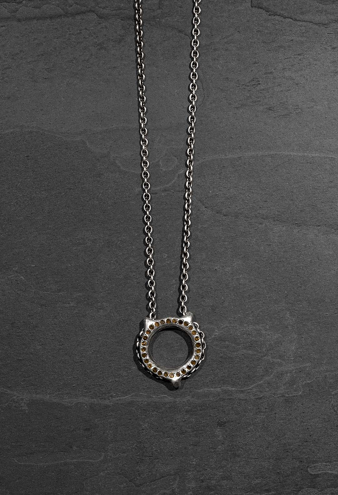 Chain loop stones necklace