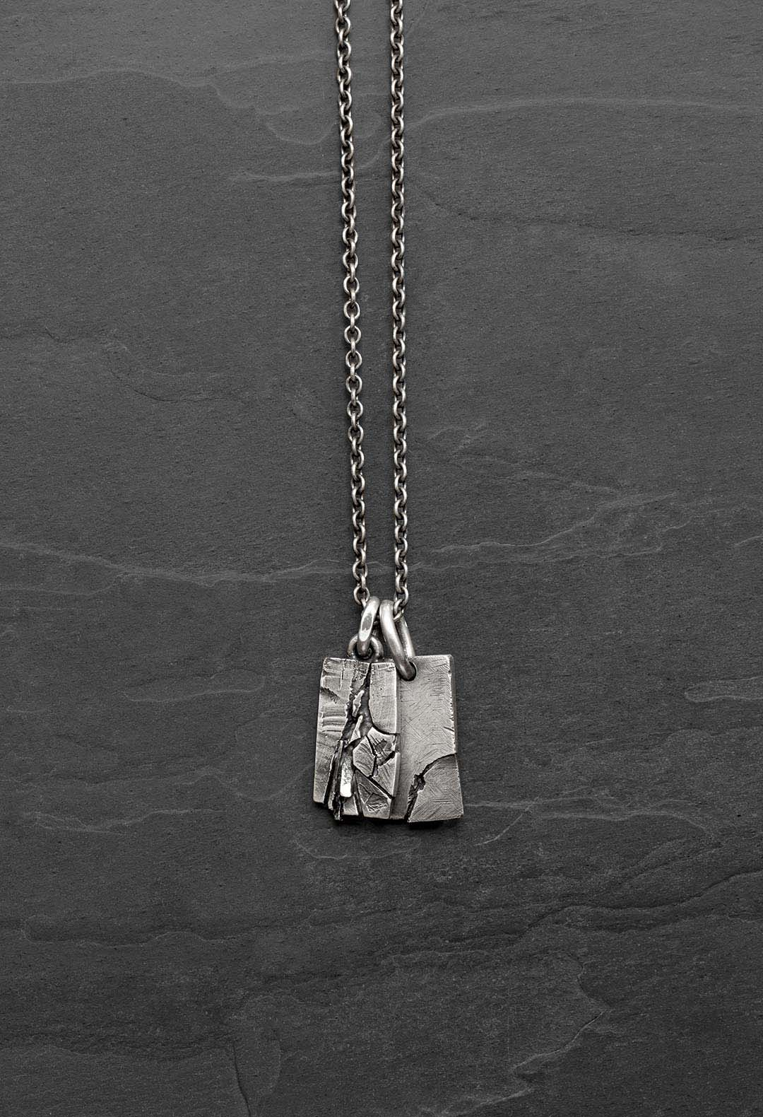 Fractured pendents necklace